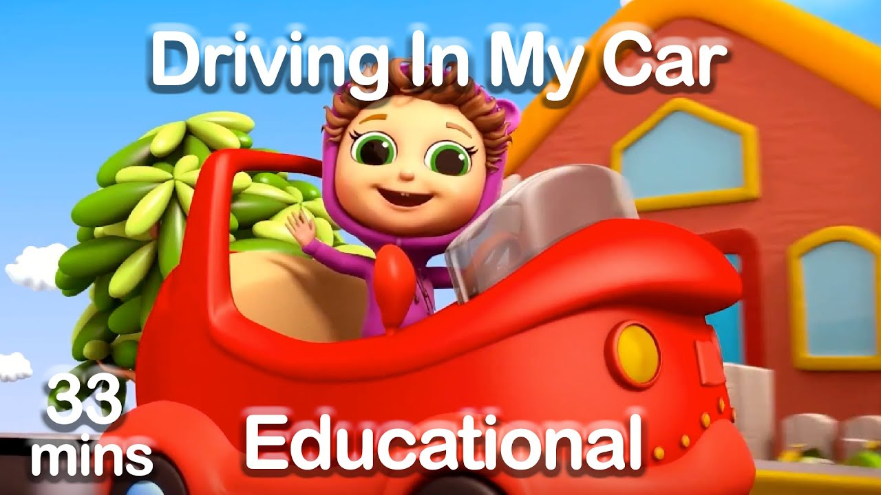 I'm Driving In My Car (Learn Colors, Vehicles, & Opposites ...